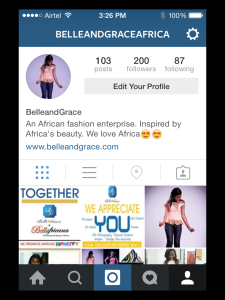 Instagram Page Profile