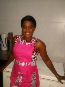 Emmanuella in pink apron 3