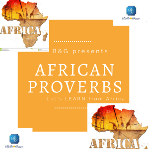 African Proverbs Launch